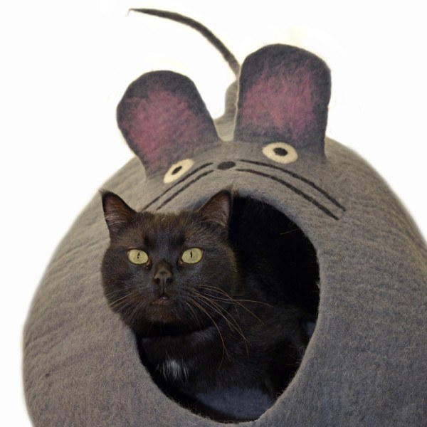 Felted Mouse Pet Cave