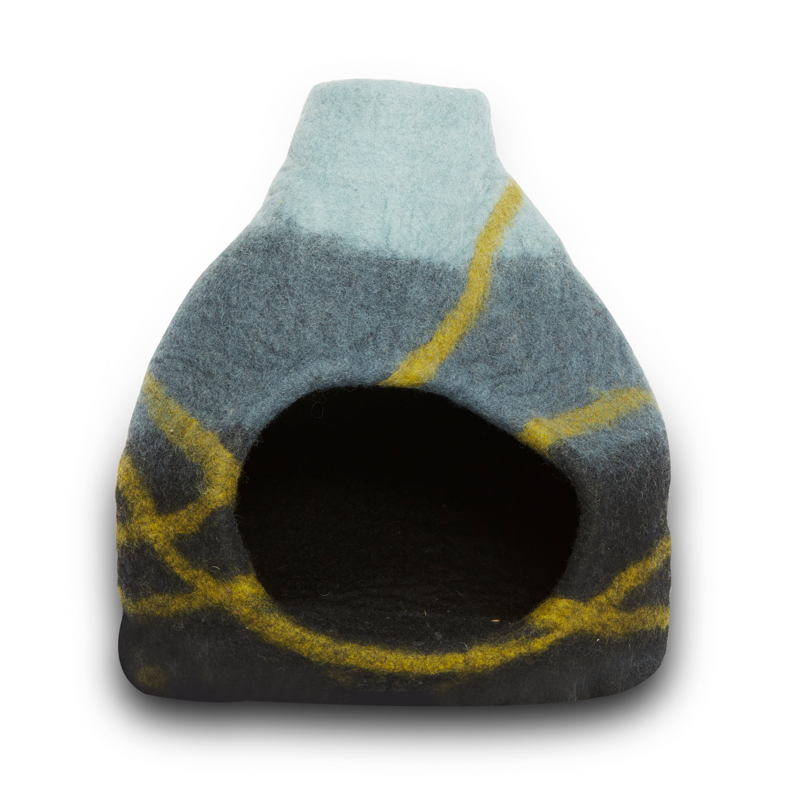 Felted Black Vase Pet Cave