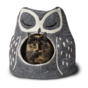 Grey Owl Felted Cat Cave