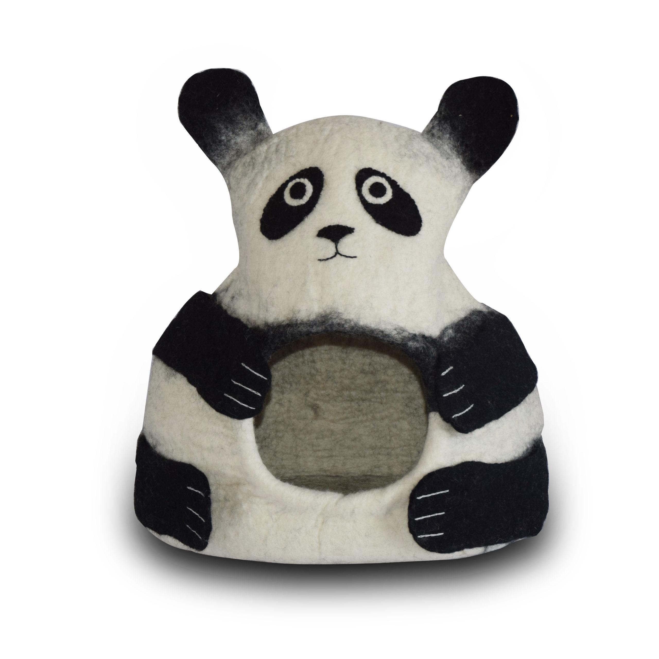 Panda Felted Cat Cave