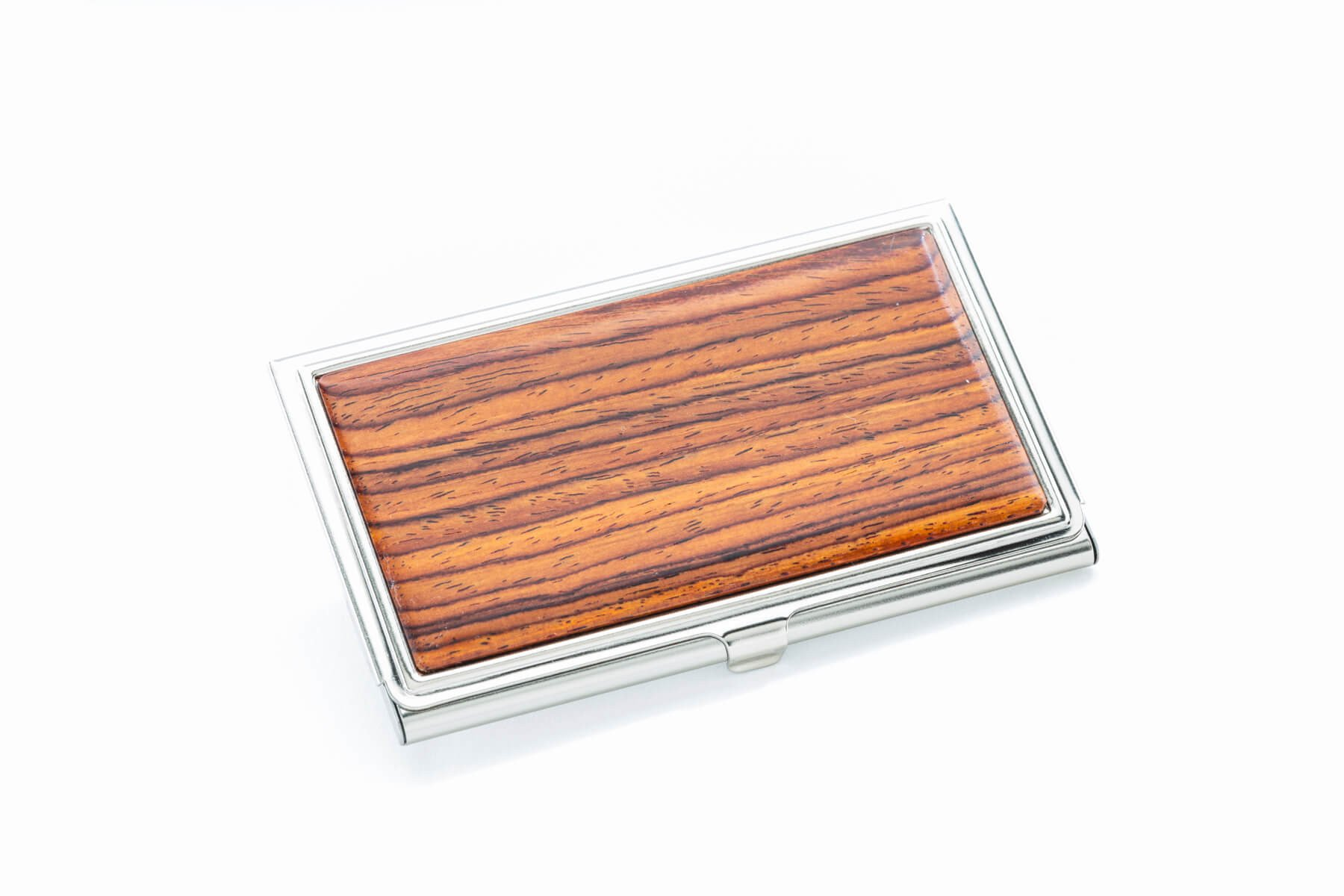 Rosewood Business Card Case