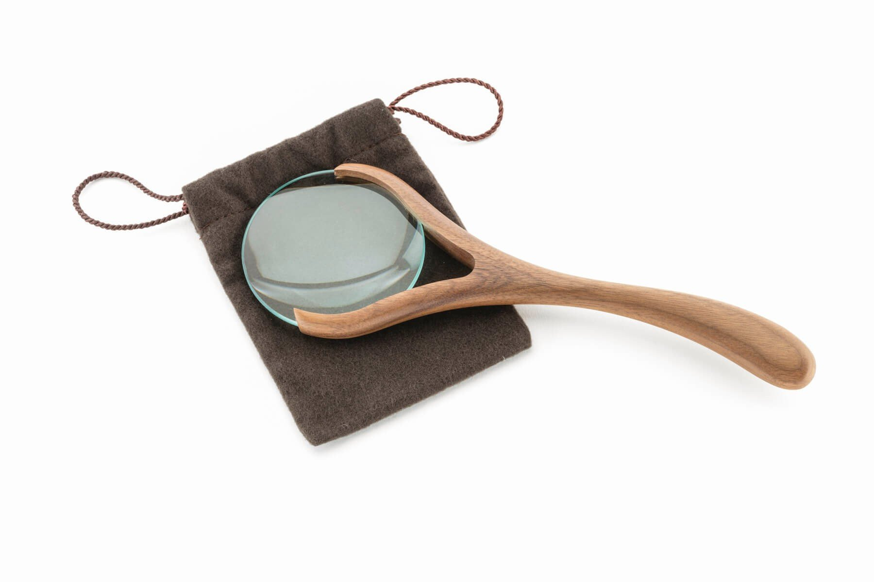 Magnifying Glass in Walnut
