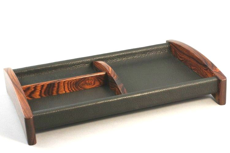 Sapele & Leather Valet
