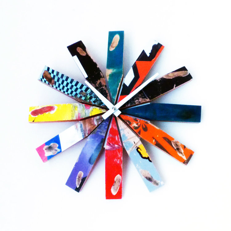 Skateboard Wheelbite Clock