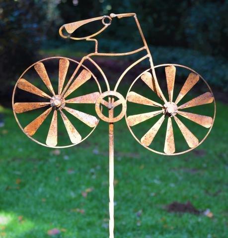 Bicycle Spinner - Bike Wind Sculpture