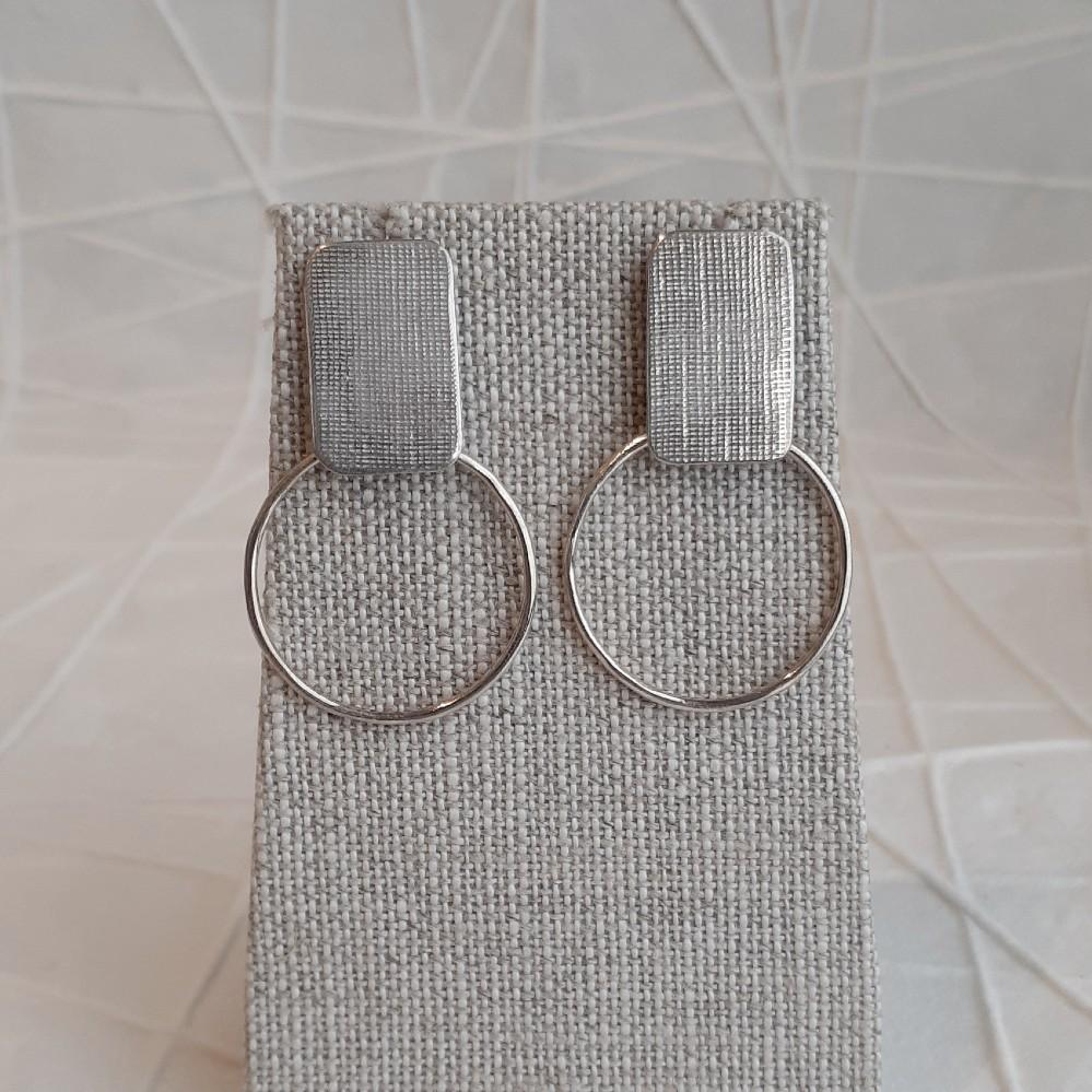 Square/Circle Post Earrings
