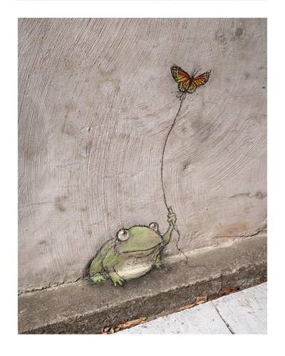 Frog and Butterfly David Zinn Print