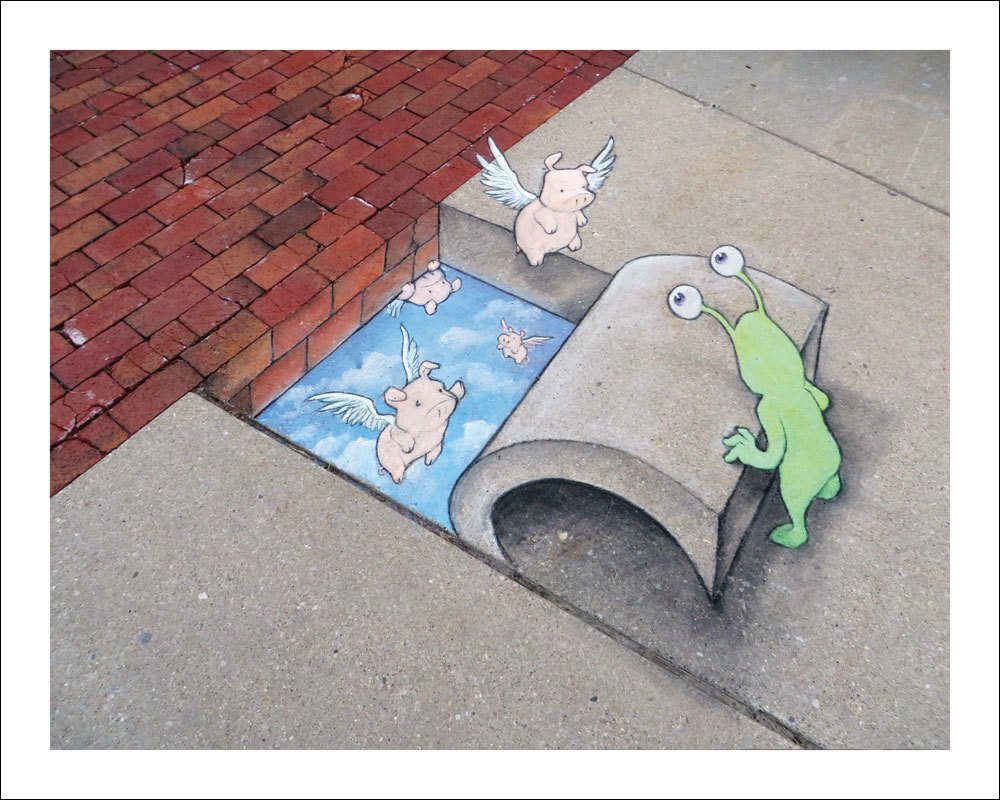 This End Up David Zinn Print