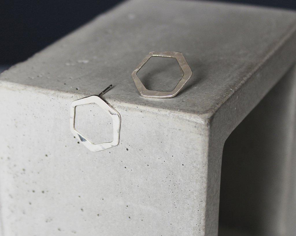 Carbon Sterling Silver Earrings