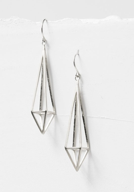 Prisma Diamond SS Earrings