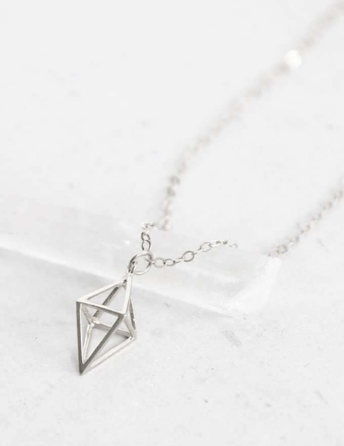 Prisma Diamond Silver Necklace