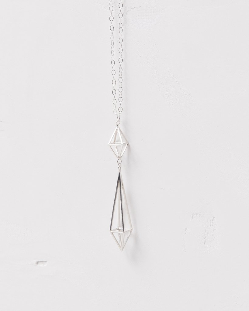 Prisma Pendulum Silver Necklace