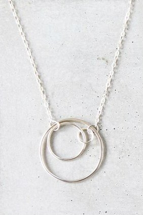 Small Concentric Silver Necklace