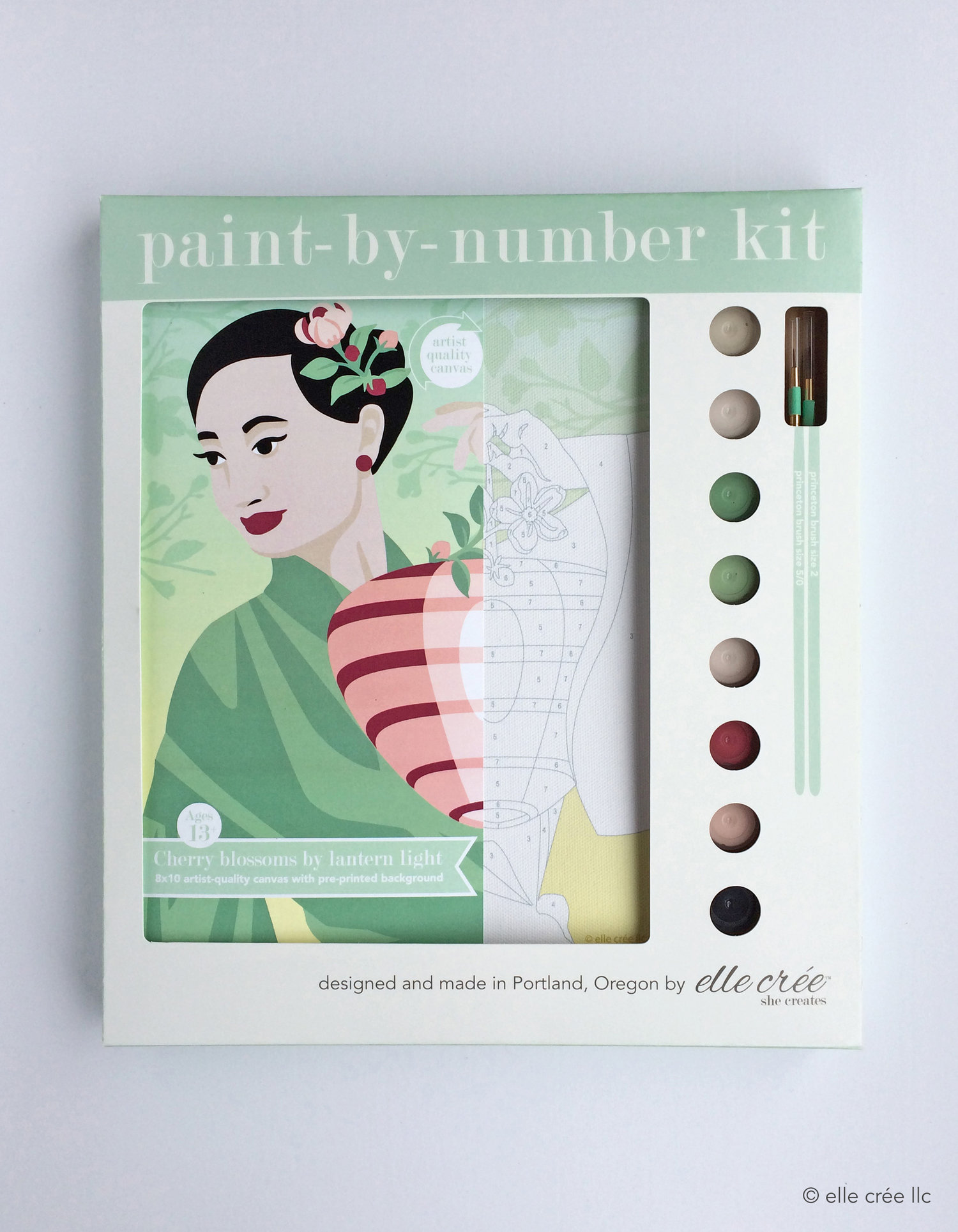 Cherry Blossoms Paint-By-Number Kit