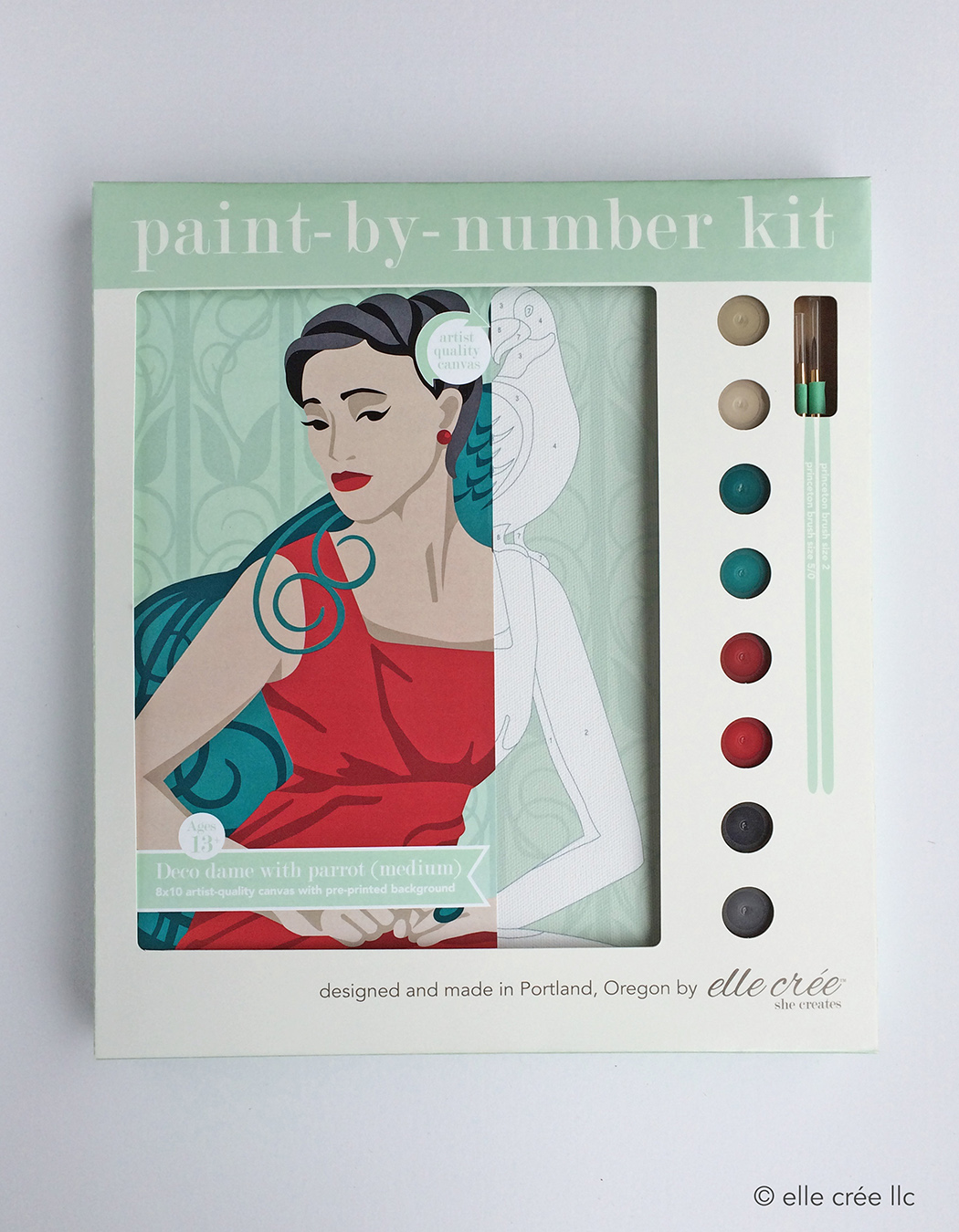 Deco Dame Paint-By-Number Kit