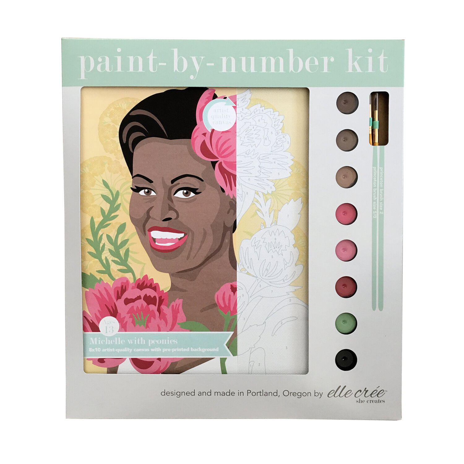 Michelle Obama Paint-By-Number Kit