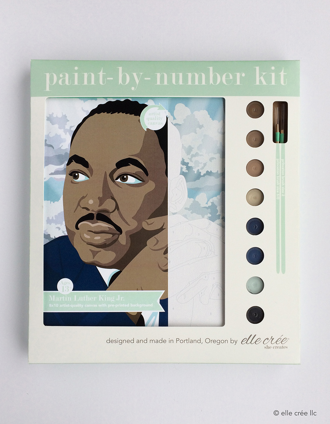 Martin Luther King Jr. Paint-By-Number Kit