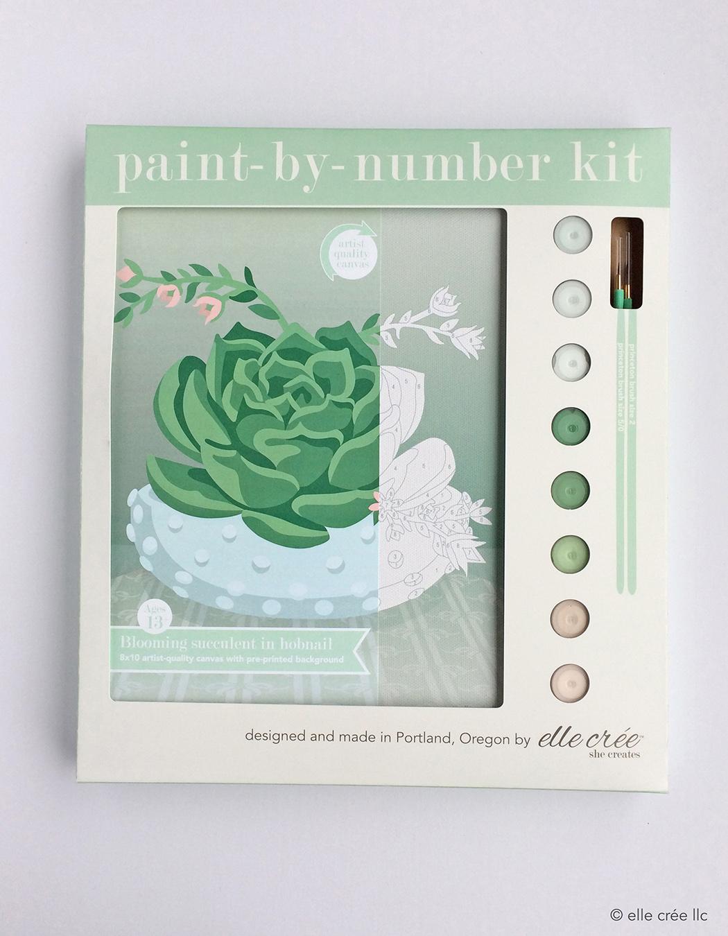 Succulent Paint-By-Number Kit