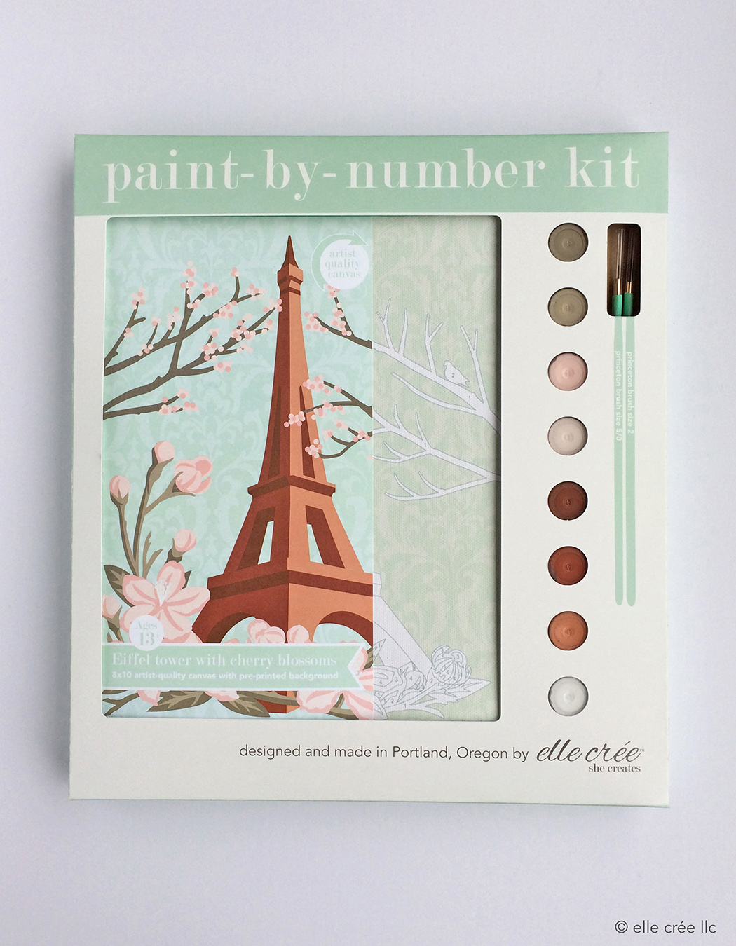 Eiffel Tower Paint-By-Number Kit