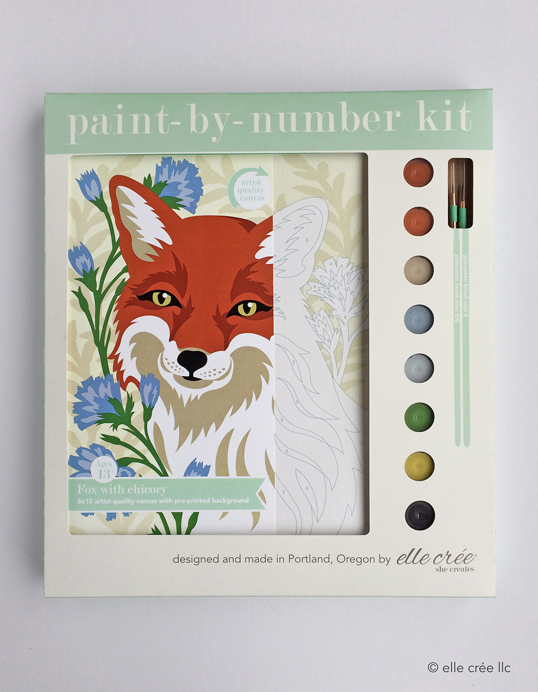 Fox Chicory Paint-By-Number Kit