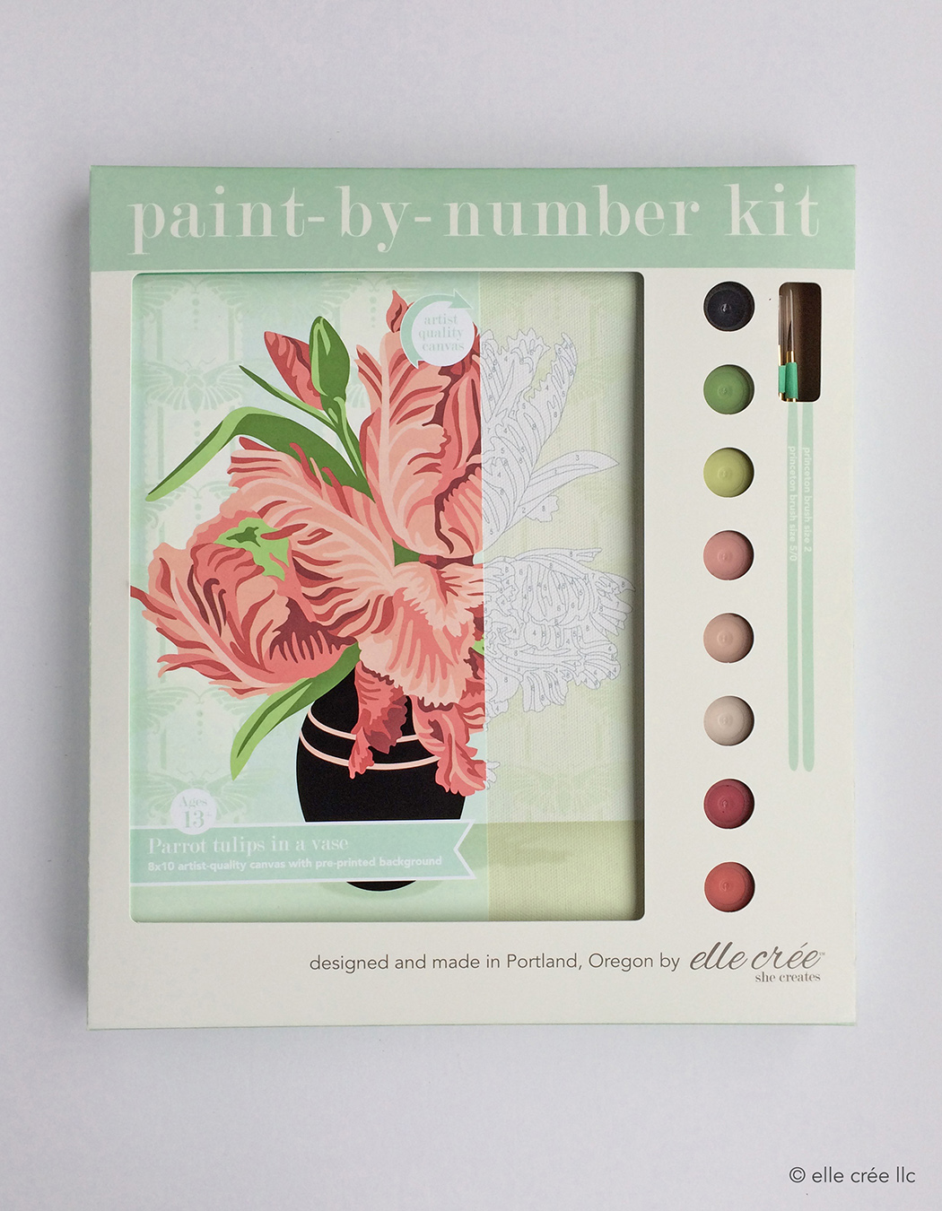 Parrot Tulips Paint-By-Number Kit