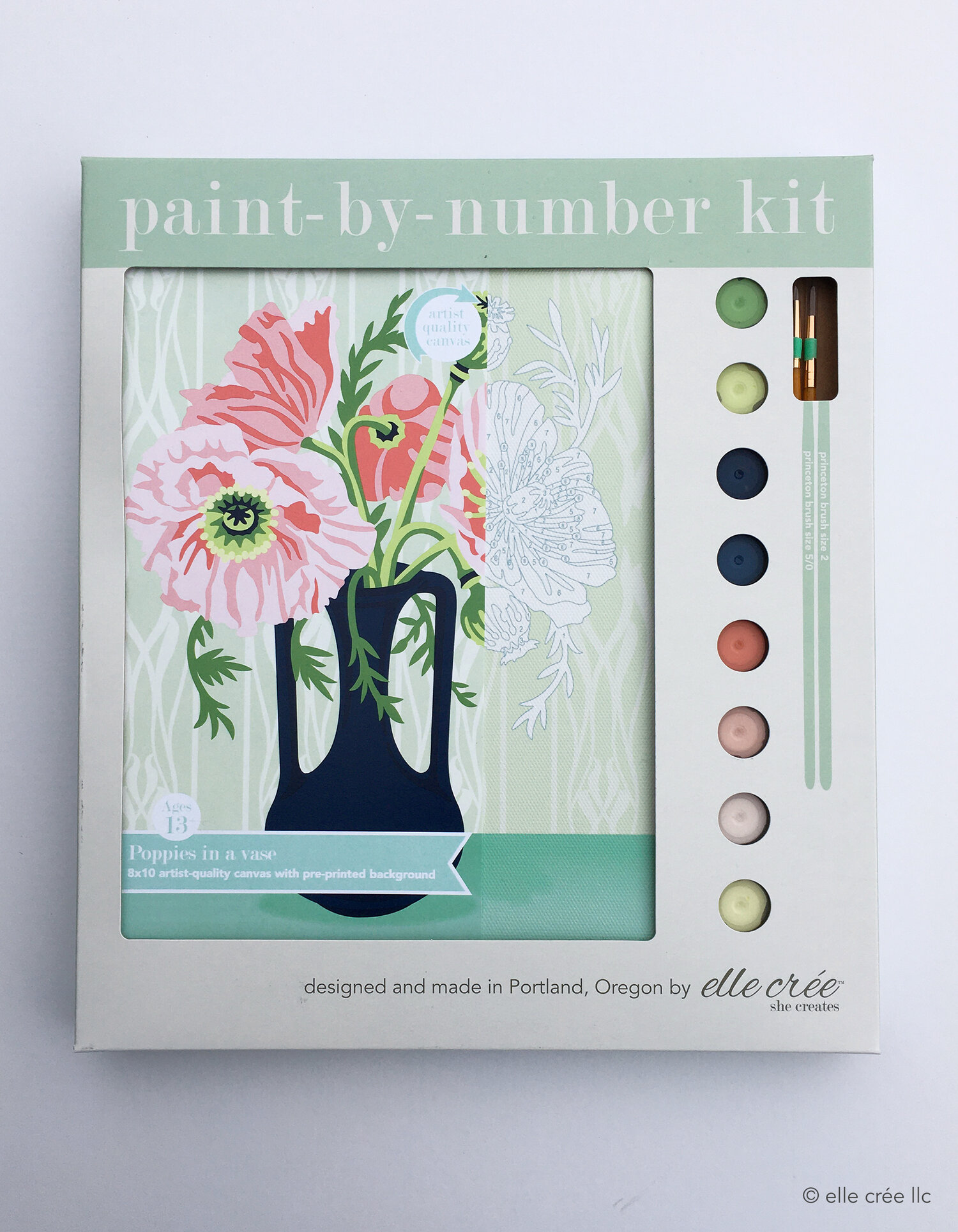 Poppies Paint-By-Number Kit