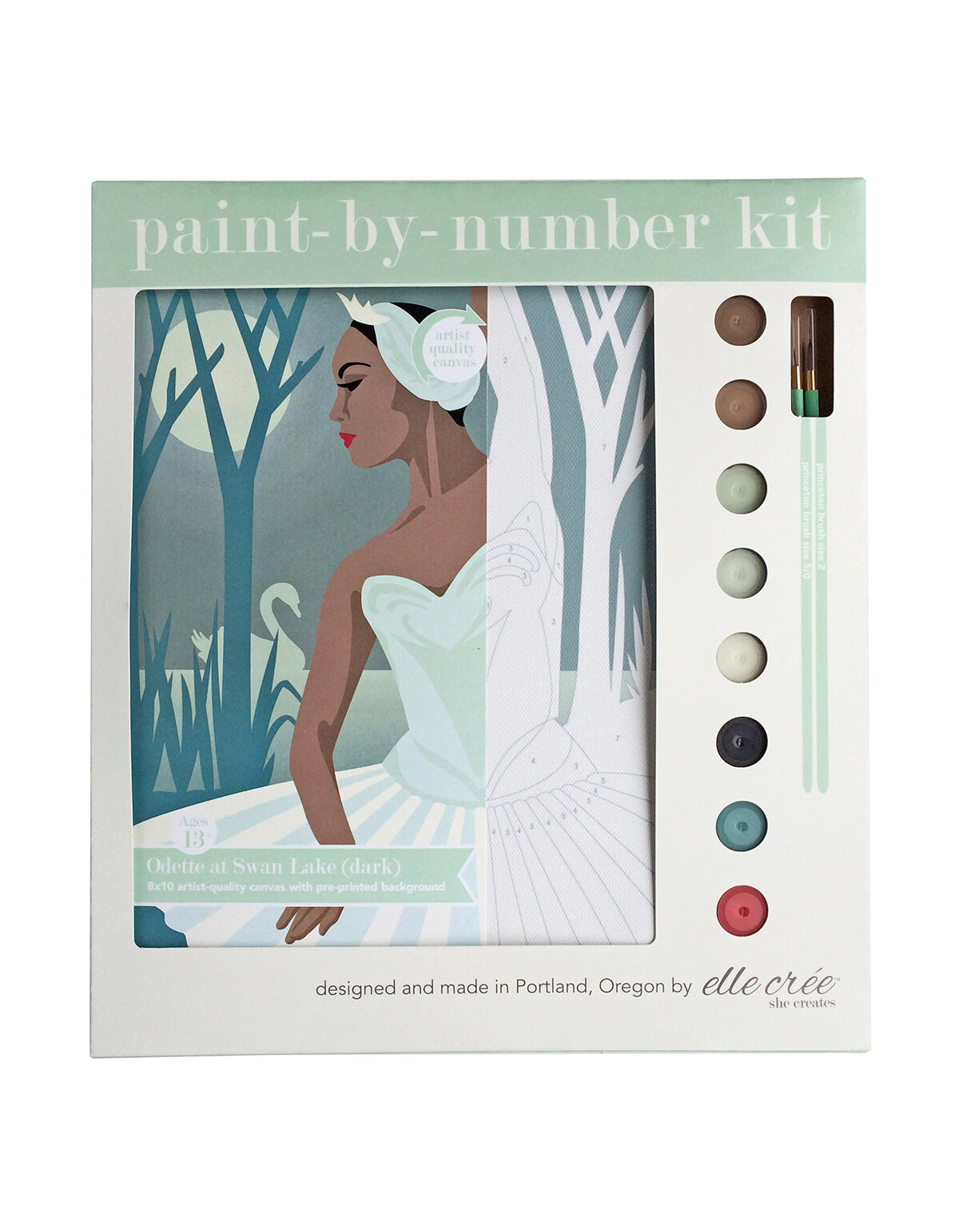 Odette Swan Lake Paint-By-Number Kit