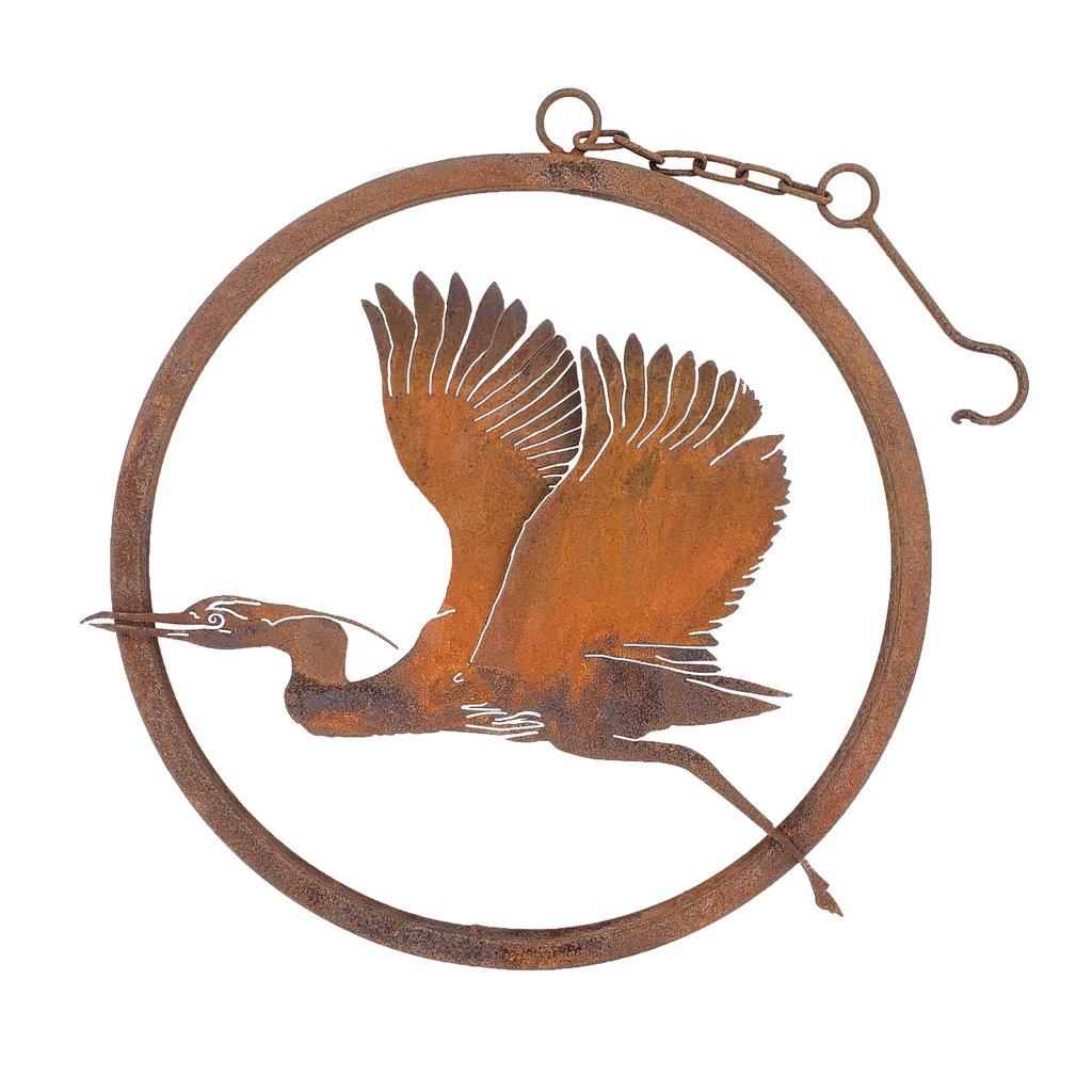 Flying Heron Rusty Ring