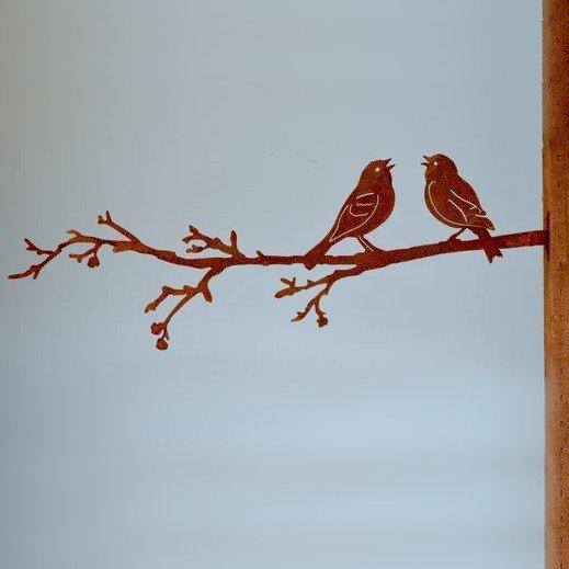 Two Love Birds on Branch