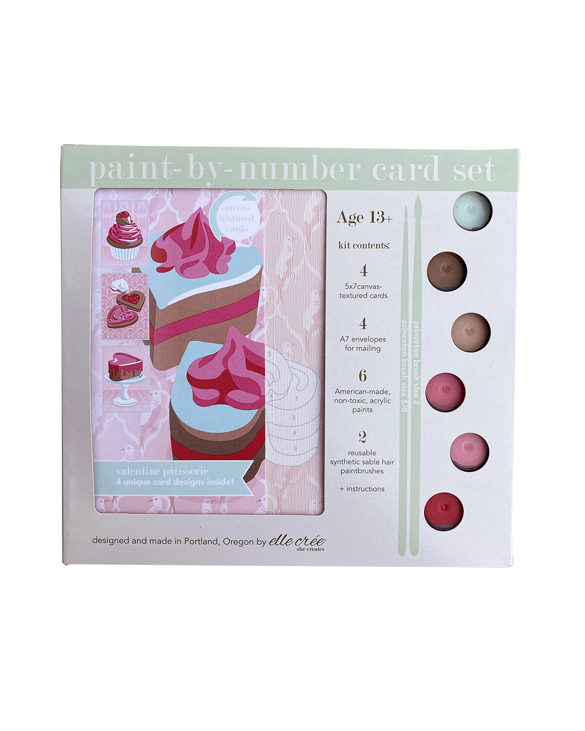 Valentine Patisserie Paint-by-number Card Set