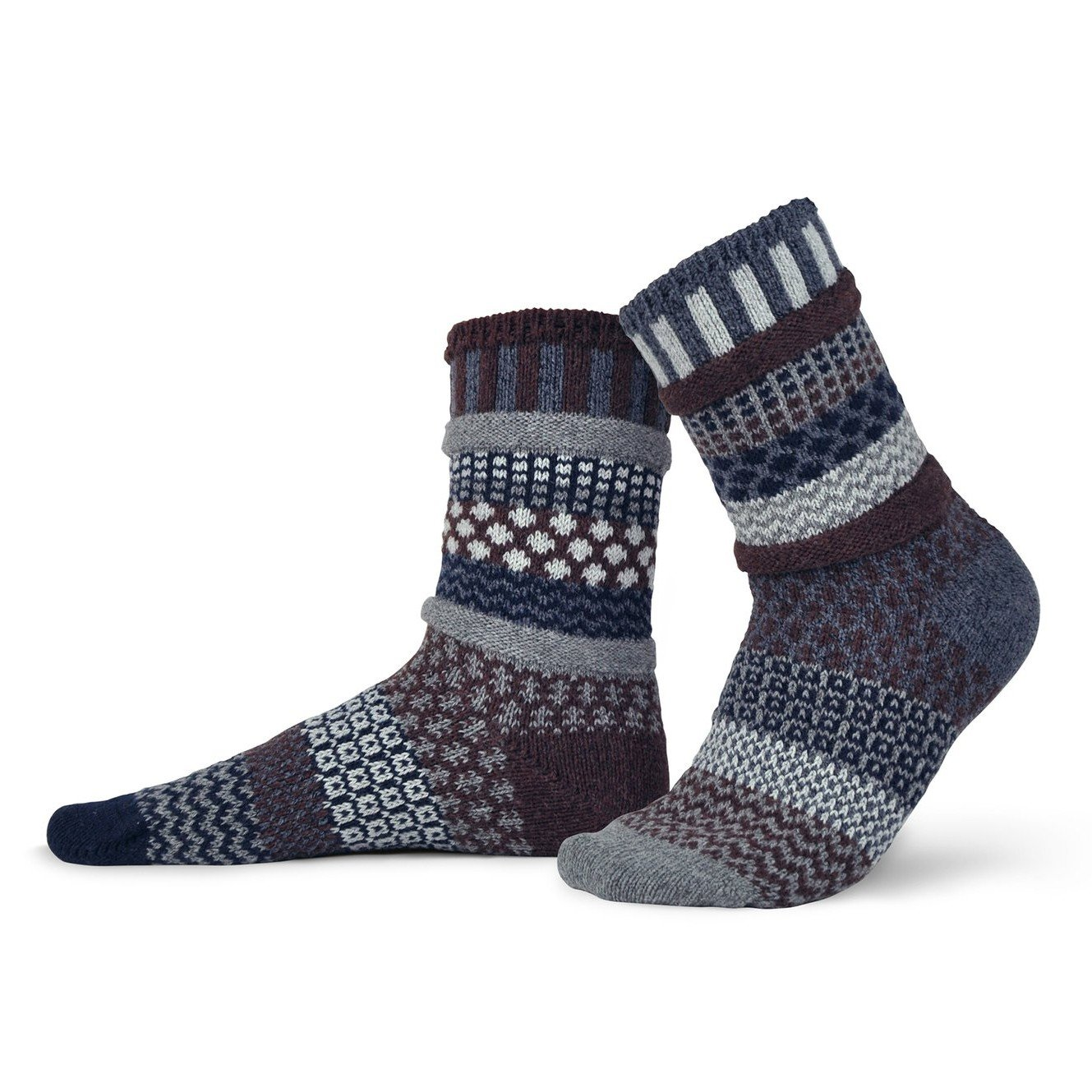 Mahogany Wool Adult Crew Socks