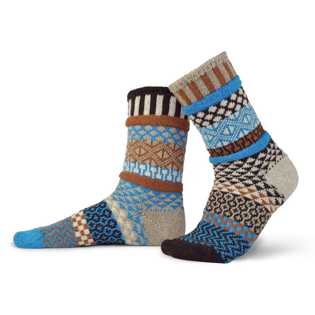 Walnut Wool Adult Crew Socks