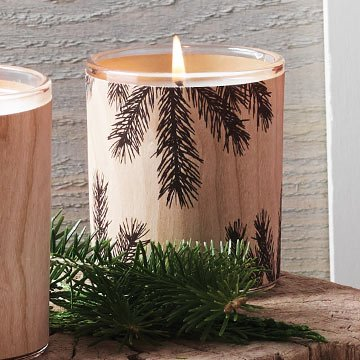 Fraser Fir Veneer Candle