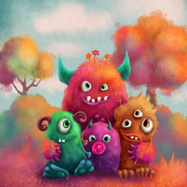Friendly Monsters Peapod Puzzle