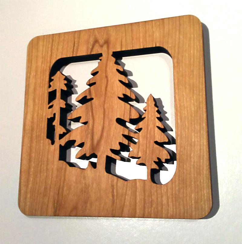 Pine Forest Wood Trivet