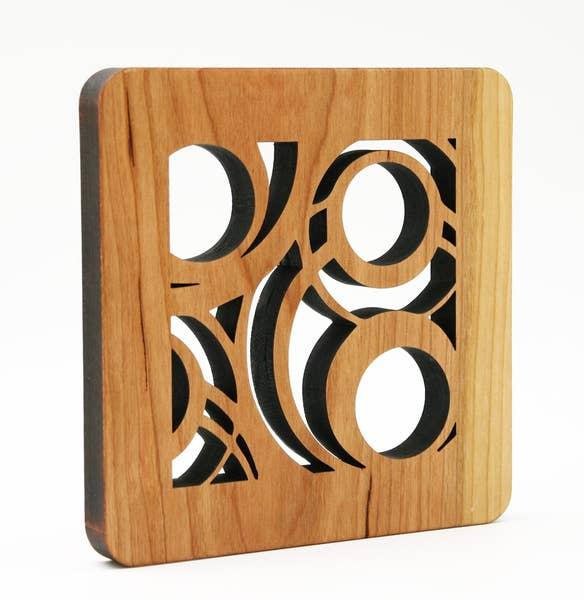 Circles Wood Trivet
