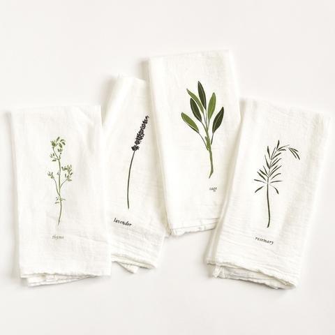 Garden Herb Napkin Set/4