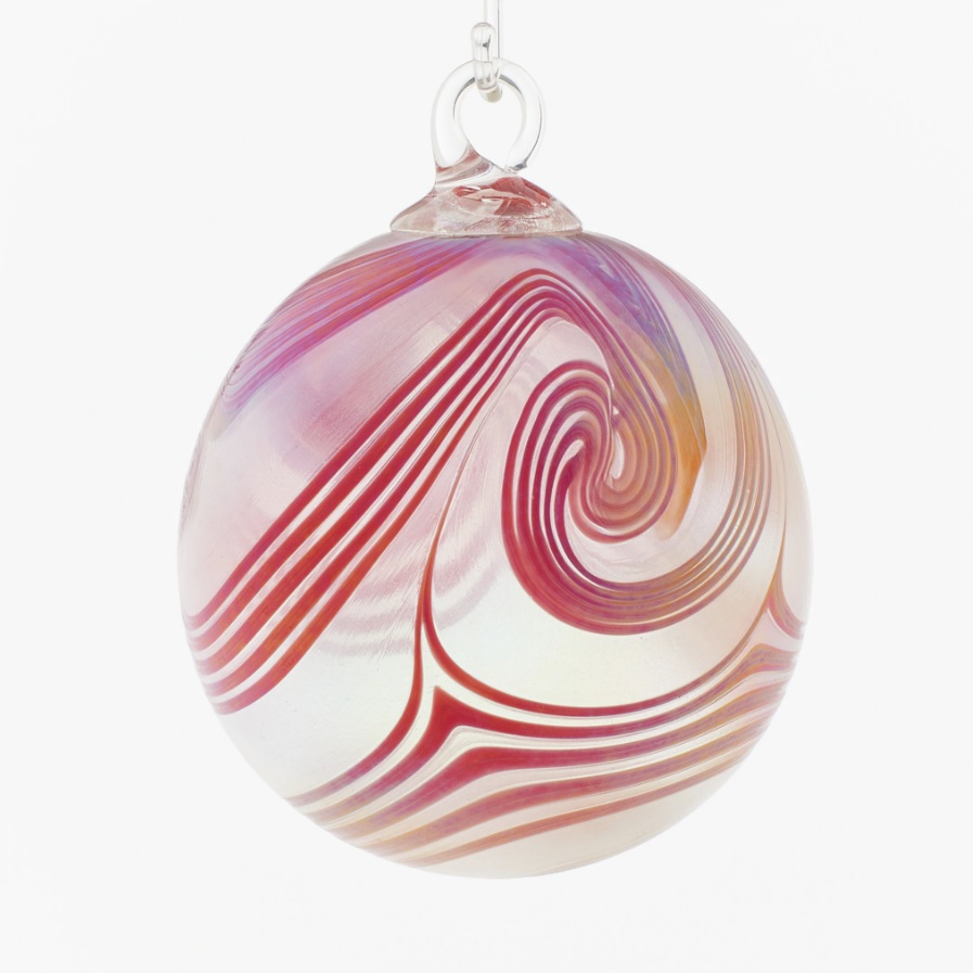 Poppy Swirl Glass Ornament