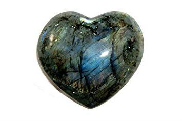 Lg Labradorite Heart