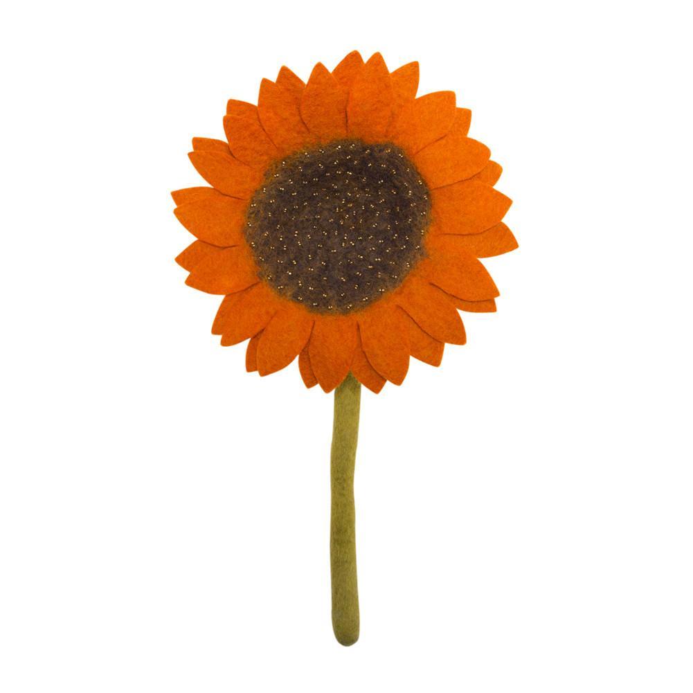 Felt Orange Sunflower