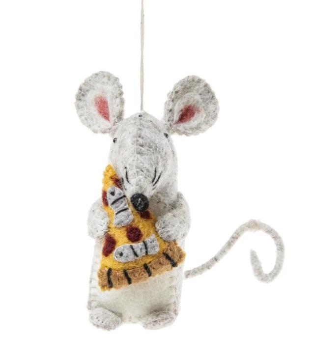 Rat & Pizza Ornament