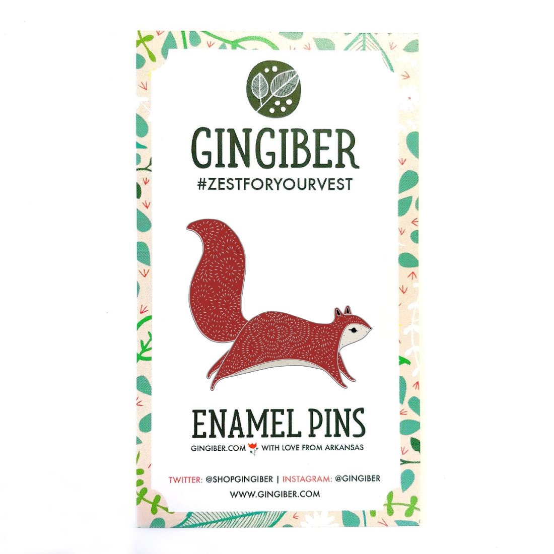 Brambel Squirrel Enamel Pin