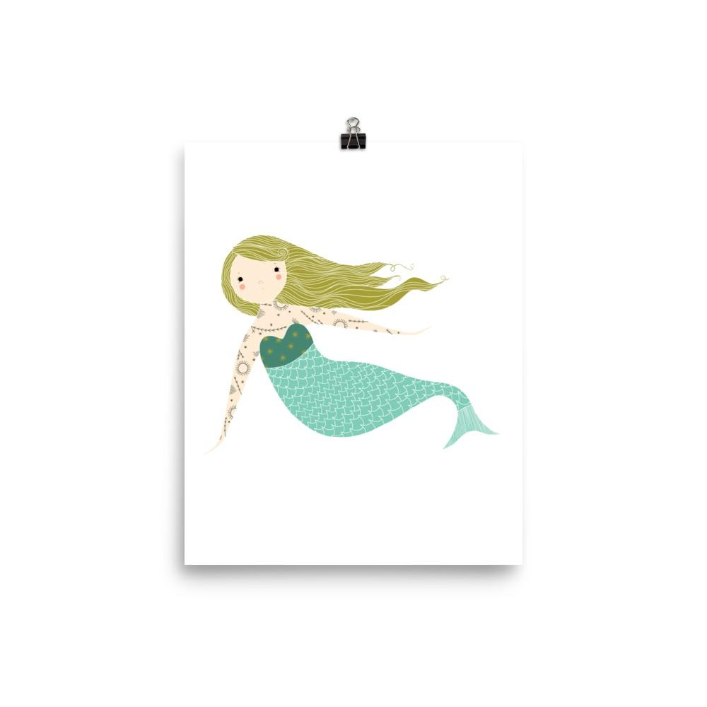 Mermaid 8x10 Art Print