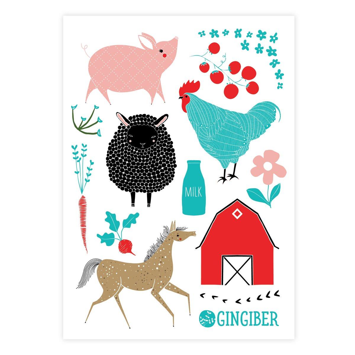 Farm Charm Sticker Sheet