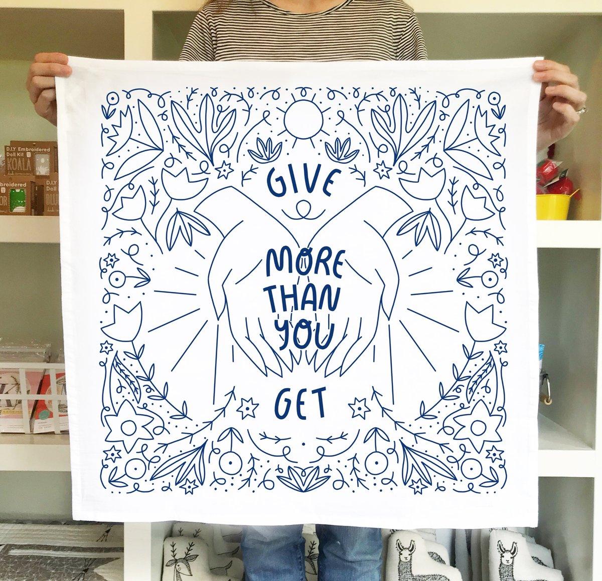 Give More Tea Towel