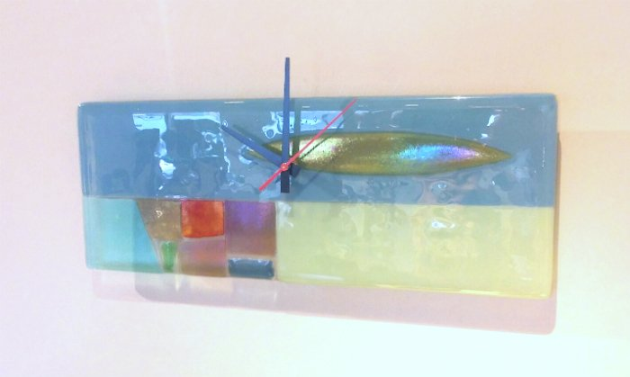 Art Glass Wall Clock