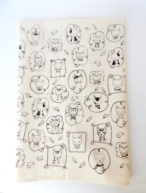 Black Cats Kitchen Towel