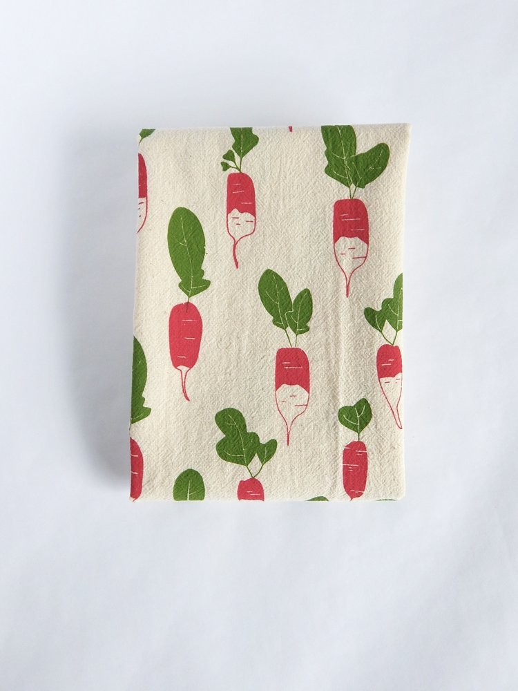 Radish Cotton Kitchen Towel