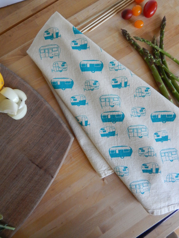 Turquoise Camper Kitchen Towel