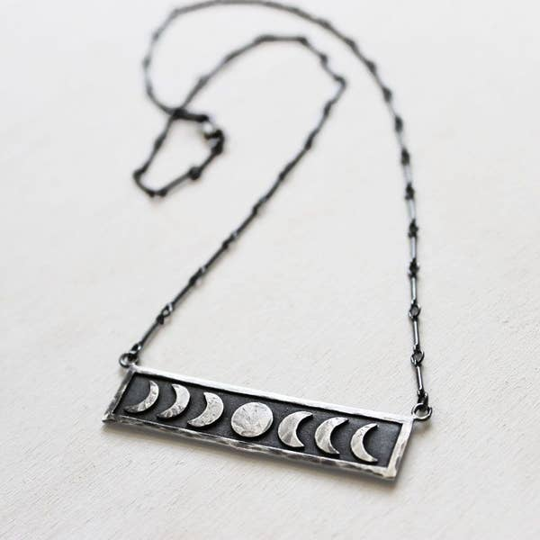 Moon Phase Necklace Ox Chain